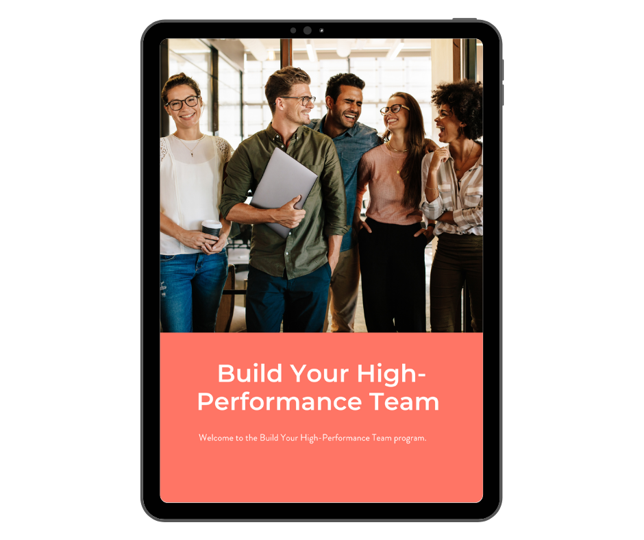 Build your high-performance team workbook
